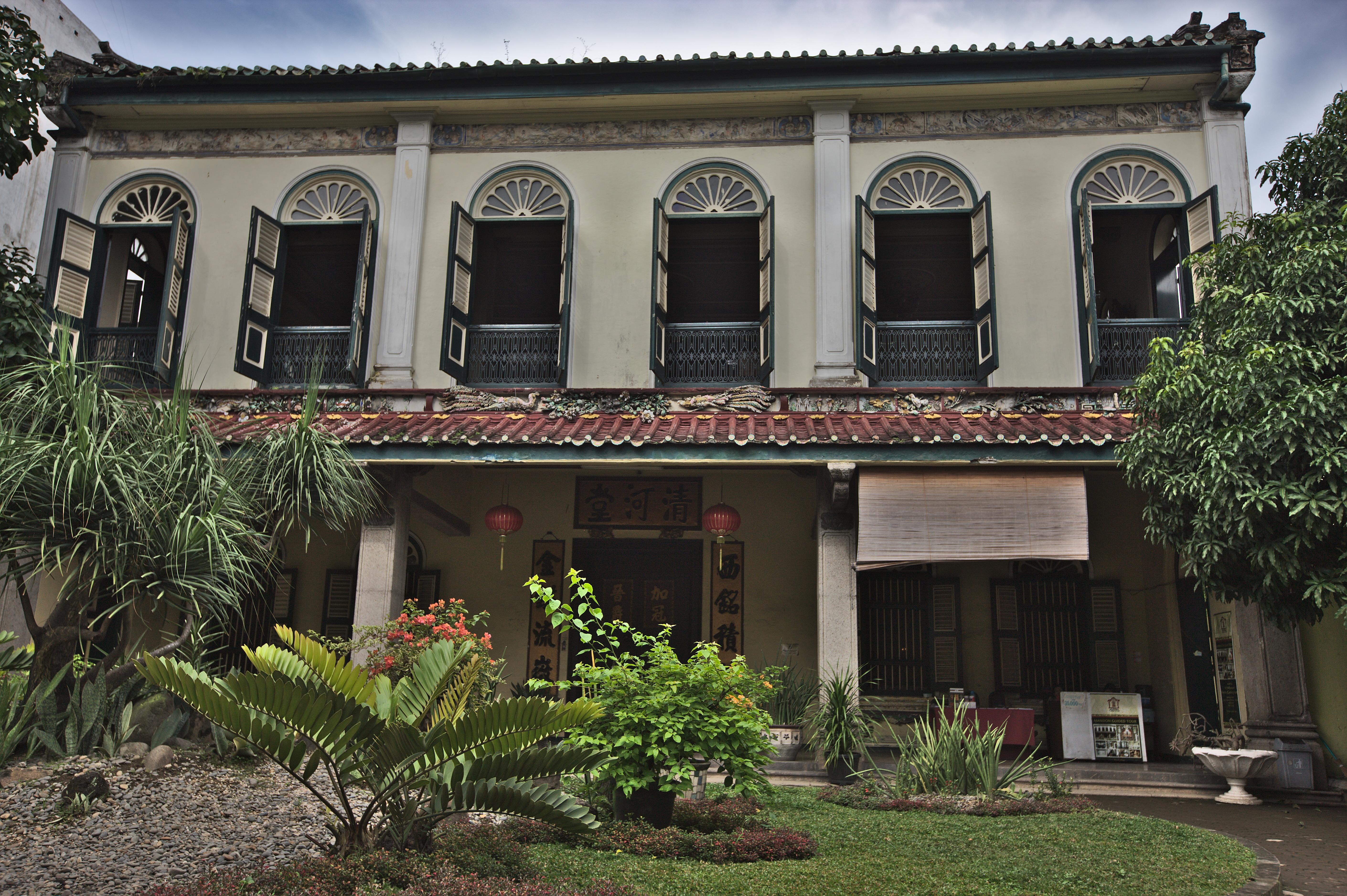 File Front View Tjong Fie Mansion Medan Jpg Wikimedia Commons