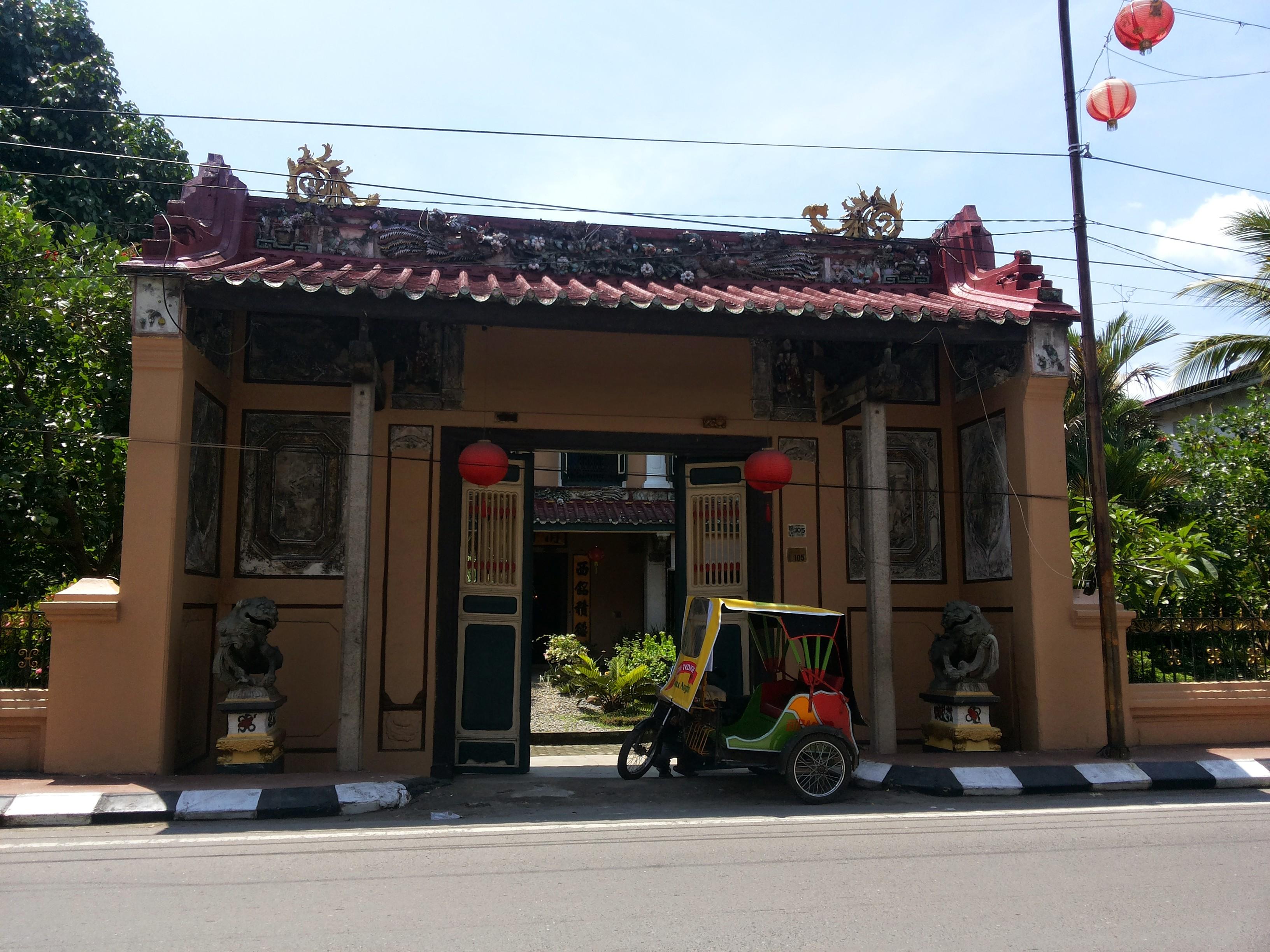 Tjong Fie Mansion Museum Peranakan Indah Medan Perjalanan Gerbang Halaman