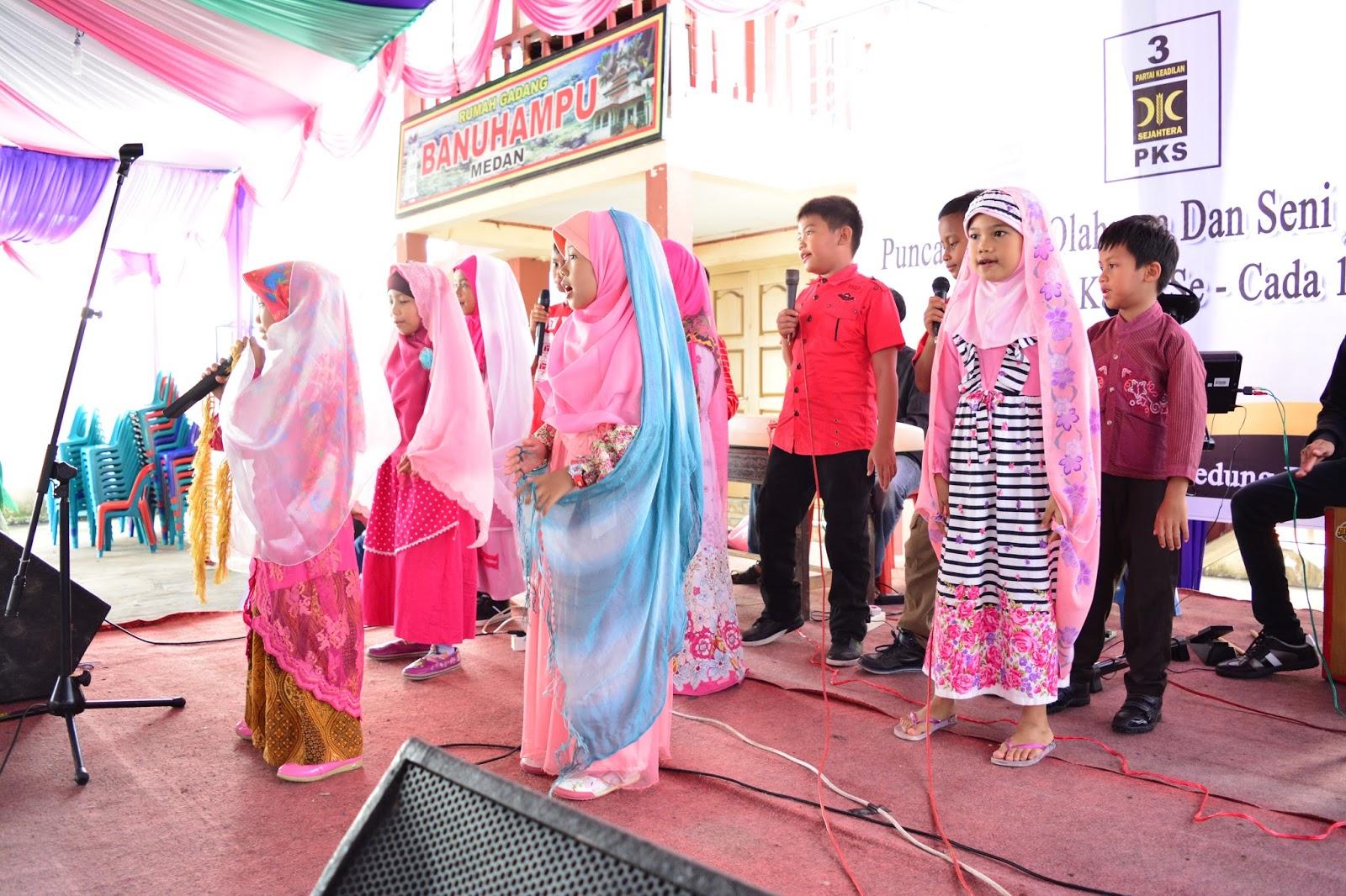 Atraksi Anak Kader Ramaikan Acara Puncak Porseni Pks Kota Medan