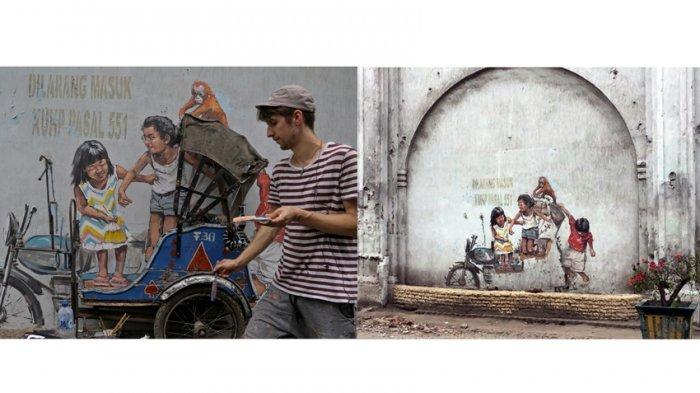 Gerobak Becaknya Raib Karya Seniman Terkenal Kawasan Pasar Hindu Rusak