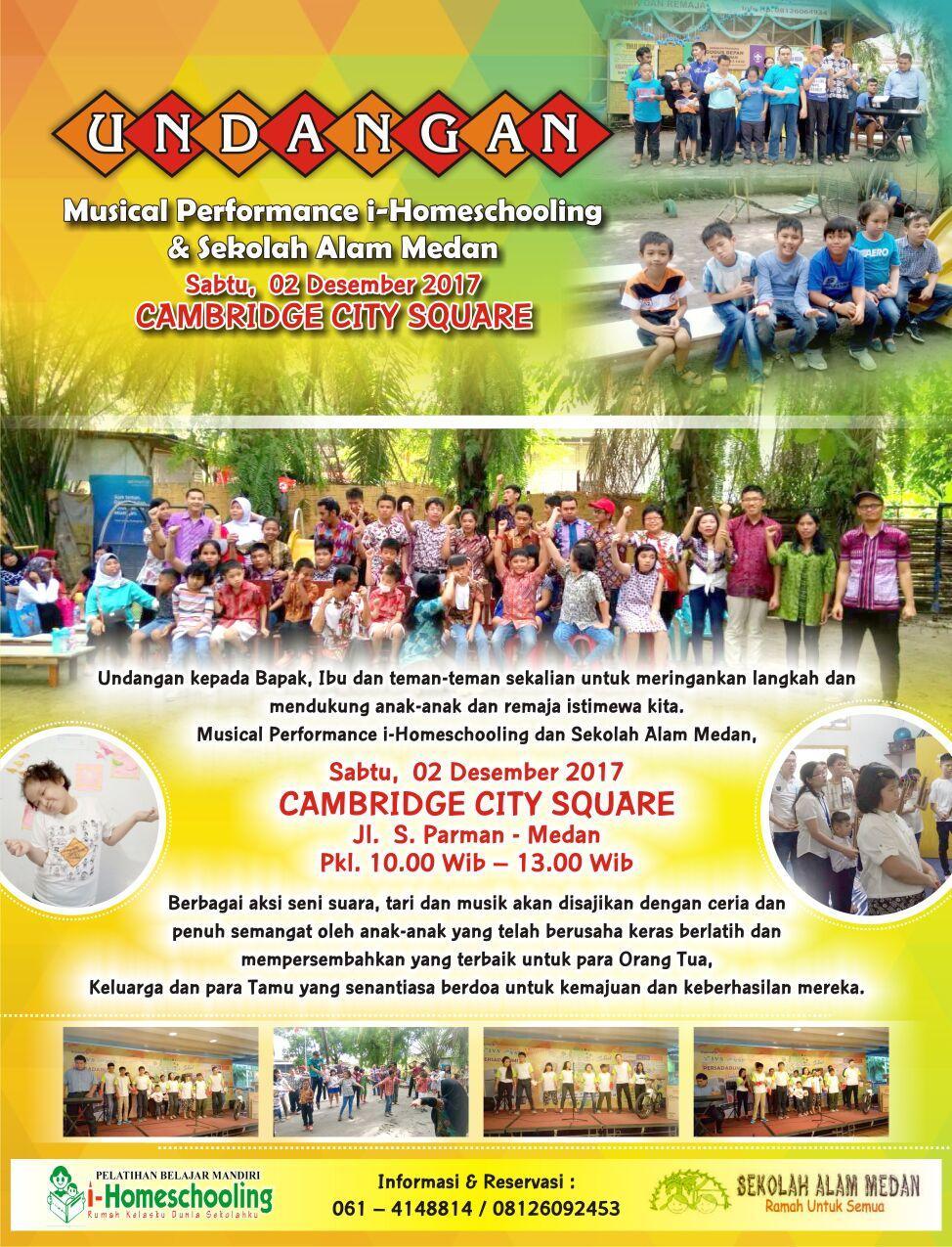 Homeschooling Musical Performance Sekolah Alam Medan Hadiri Saksikanlah Berbagai Seni