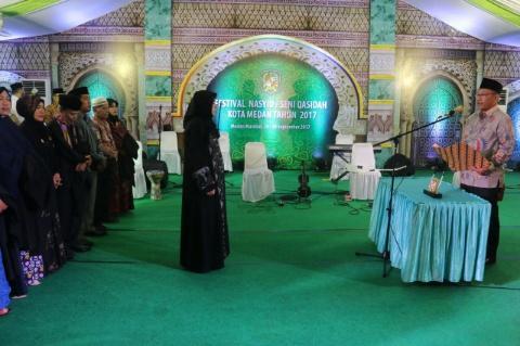 Walikota Medan Buka Festival Nasyid Seni Qasidah Tingkat Kota Wakil