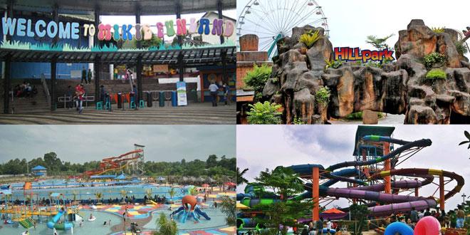 4 Wahana Permainan Kota Medan Waspada Online Taman Air Hairos