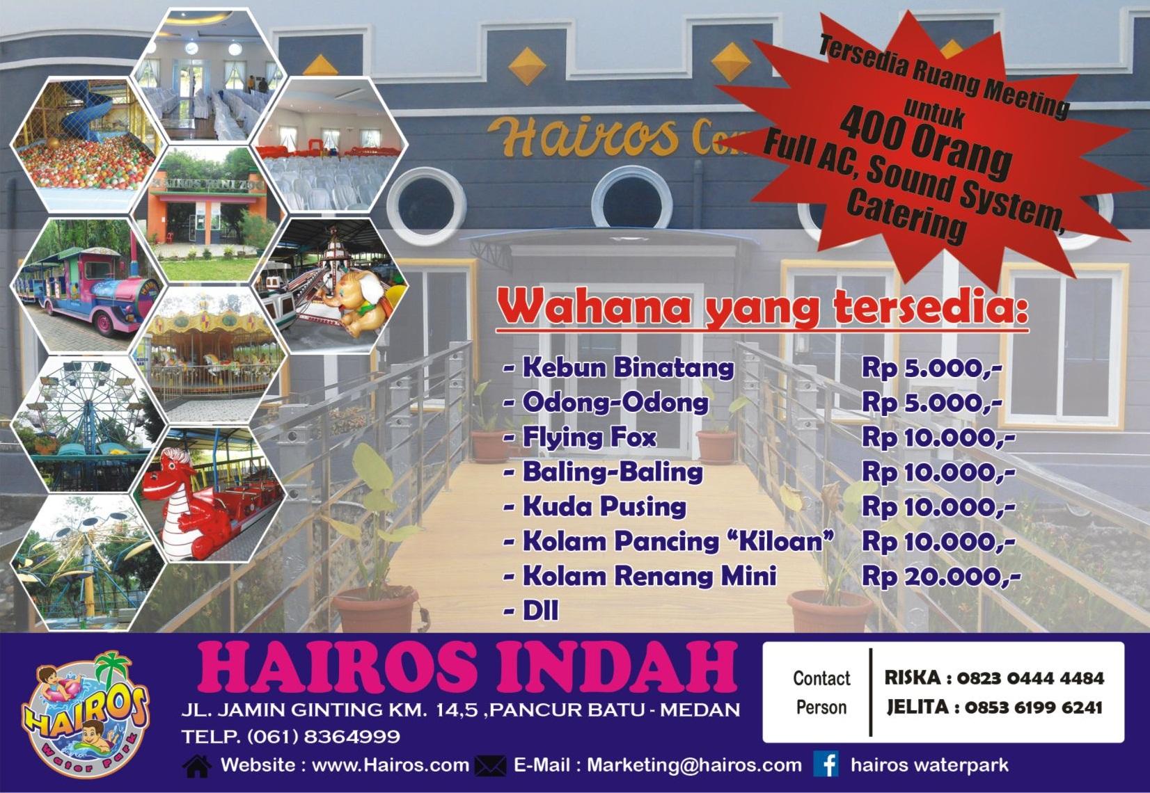Hairos Convention Hall Taman Air Kota Medan
