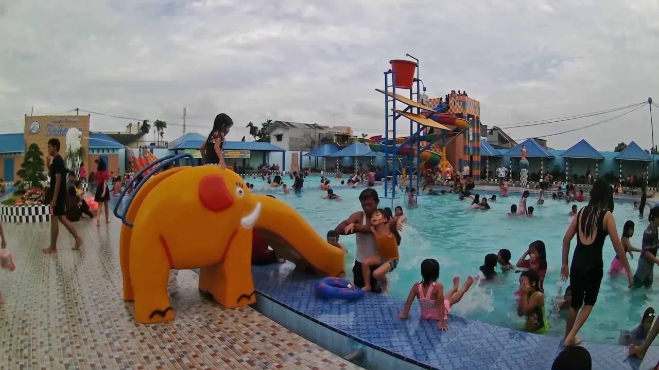 Kolam Renang Bahagia Medan Youtube Beleq Mata Taman Air Hairos