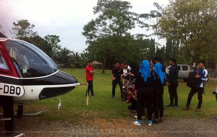 Berita Taman Cadika Johor Heboh Kedatangan Helikopter Analisadaily Pramuka Kota