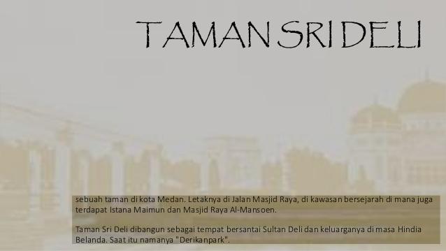 Kesultanan Deli Revolusi Sumatera Timur Taman Sri Sebuah Kota Medan