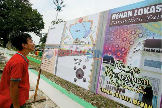 Ramadhan Fair Taman Sri Deli Gratis Parkir Kota Medan