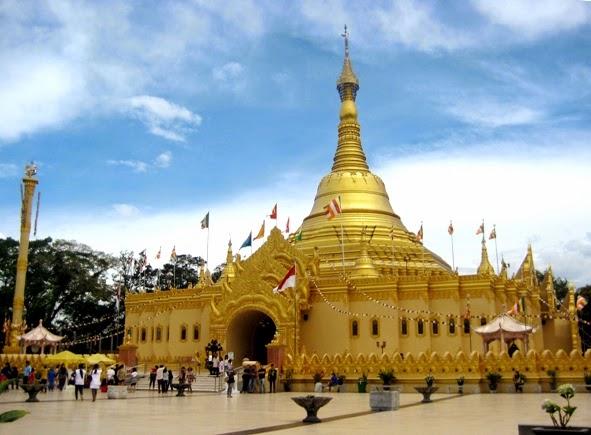 Memukaunya Replika Pagoda Swhedagon Taman Alam Lumbini Xpresi Coxpresi Wisata