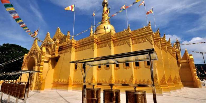 Pagoda Taman Alam Lumbini Berastagi Tourist Attractions Area 3 Hectares