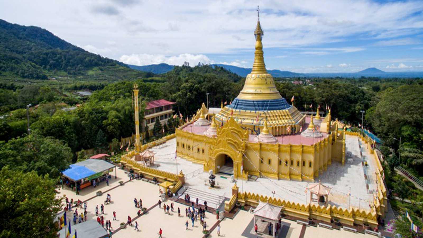 Pagoda Tertinggi Indonesia Terdapat Taman Alam Lumbini Sejak Keberadaannya 2010