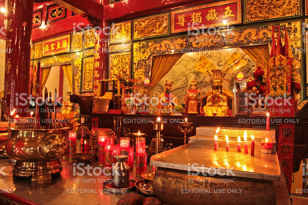 Chinese Vihara Gunung Timur Temple Medan Indonesia Stock Royalty Free