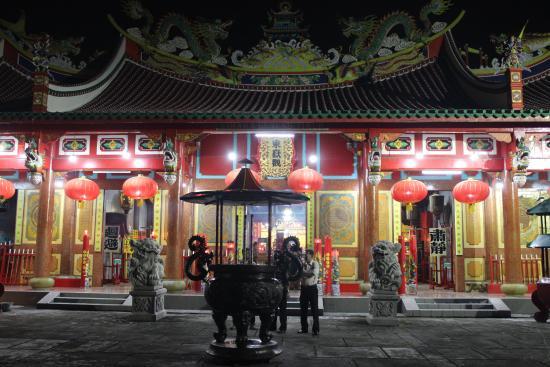 Vihara Sore Hari Picture Gunung Timur Temple Medan Malam Kota