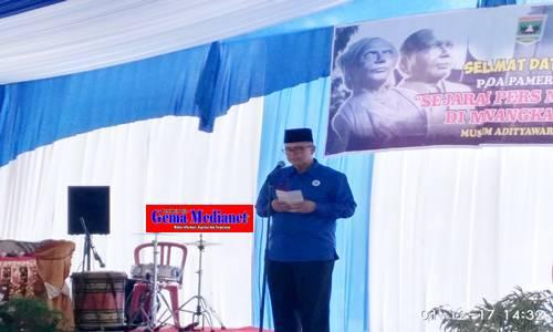 Wagub Resmikan Pameran Sejarah Pers Nasional Minangkabau Museum Padang Gemamedianet