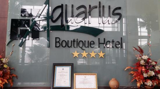 Background Reception Picture Aquarius Boutique Hotel Bukit Doa Karmel Tangkiling
