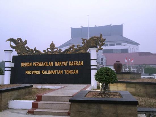 Bentangan Pemandangan Arah Kantor Dprd Prov Kalimantan Tengah Palangka Raya