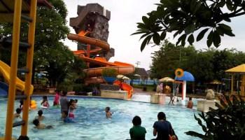 Kalawa Waterpark Palangkaraya Kontraktor Waterboom Spiral Slide Kota