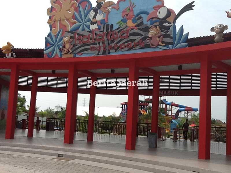 Kalawa Waterpark Tempat Wisata Keluarga Palangkaraya Berita Daerah Suasana Area
