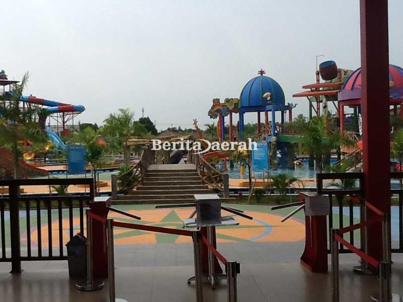 Kalawa Waterpark Tempat Wisata Keluarga Palangkaraya Berita Daerah Wahana Air