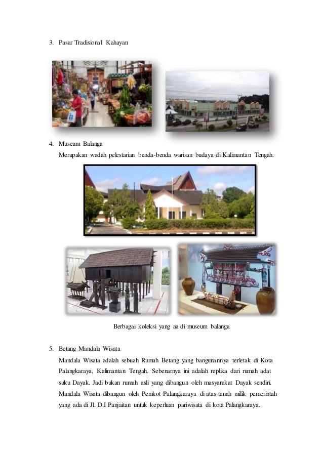 Kota Palangka Raya Terdiri 5 Kecamatan Bundaran Besar Palangkaraya Museum