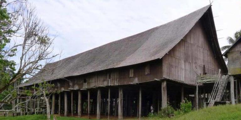 Desain Rumah Adat Kalimantan Tengah 9 Bentang Kota Palangkaraya