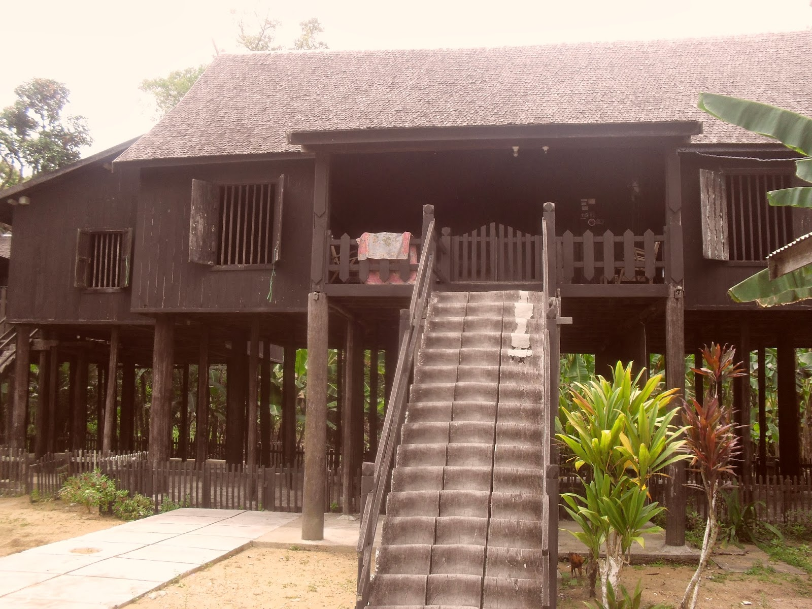 Mahakam24 Betang Rumah Adat Suku Dayak Desa Buntoi Bentang Kota