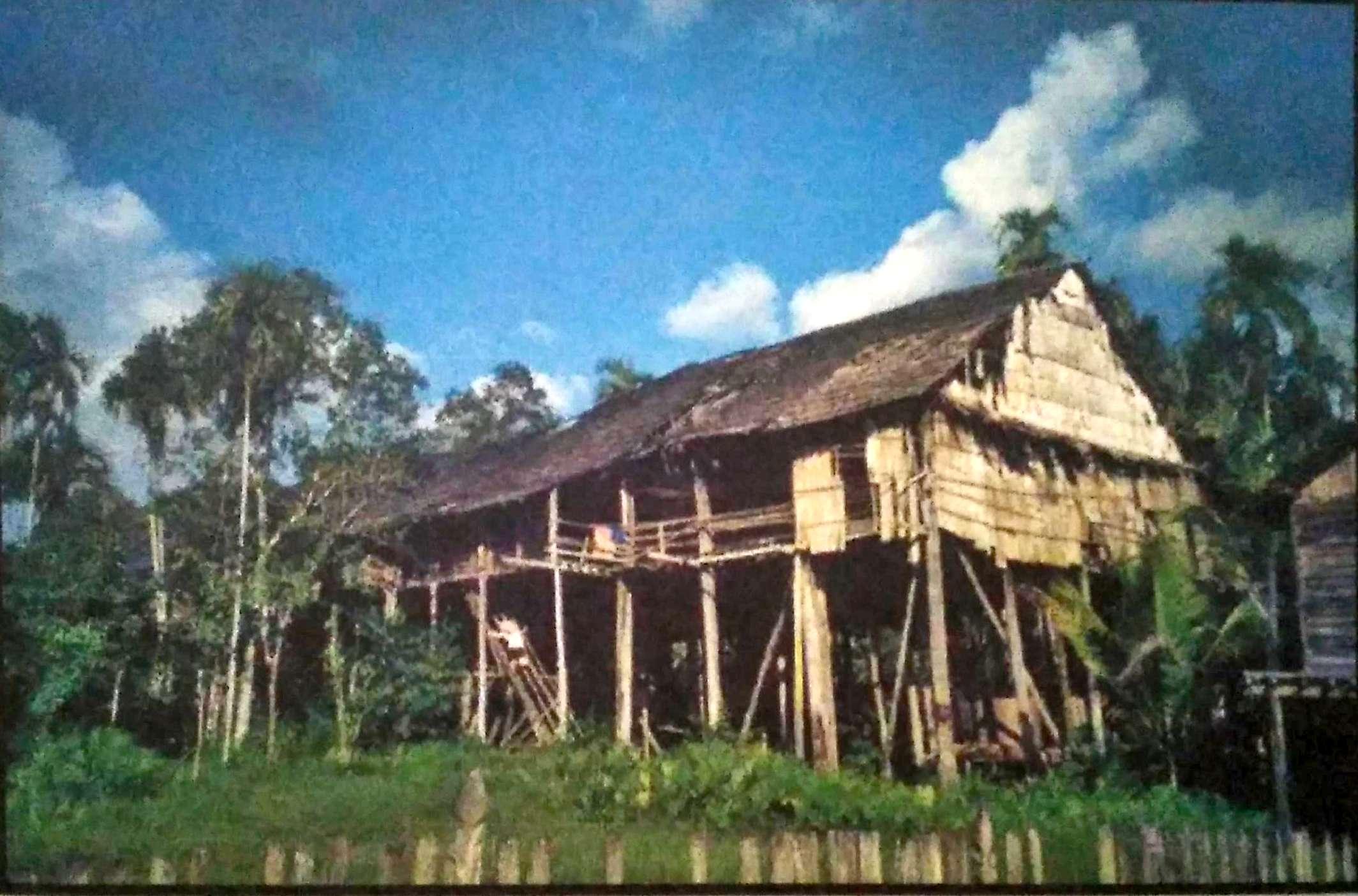 Rumah Adat Betang Provinsi Kalimantan Tengah Denah Nama Barat Bentang