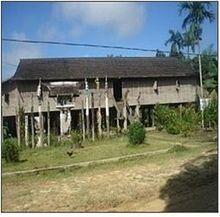 Rumah Betang Wikipedia Bahasa Indonesia Ensiklopedia Bebas Adat Bentang Kota