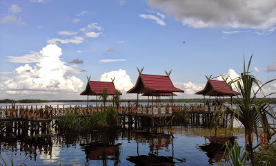 Kereng Bangkirai Dock Palangkaraya City Small Village Named Travel 30