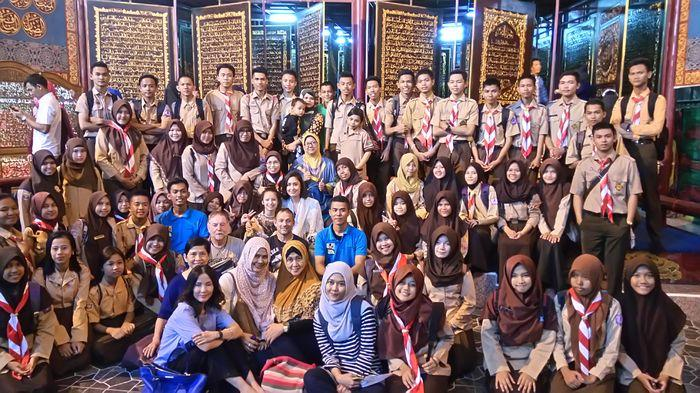 Saka Pariwisata Kota Palembang Kunjungi Al Qur Akbar Foto
