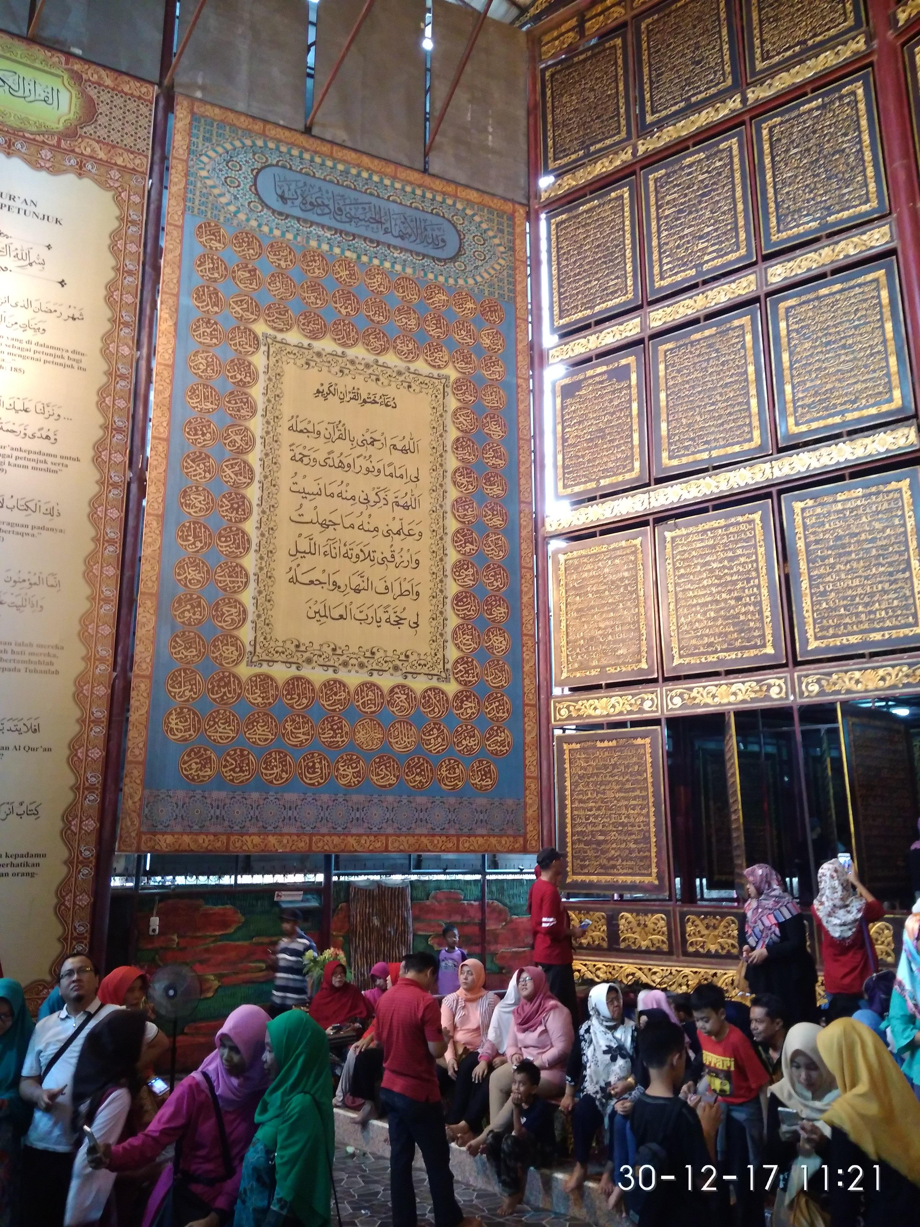 Subhanu Allah Pengunjung Wisata Religi Al Qur Akbar Meningkat 100