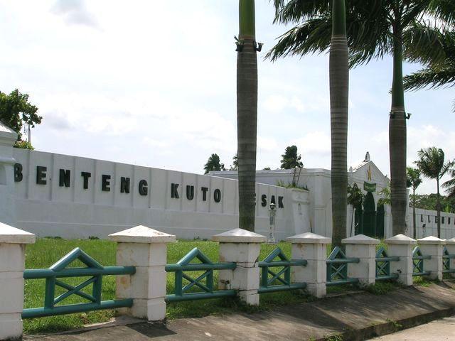 Benteng Kuto Besak Arkeologi Indonesia Langit Cerah Atas Kota Palembang