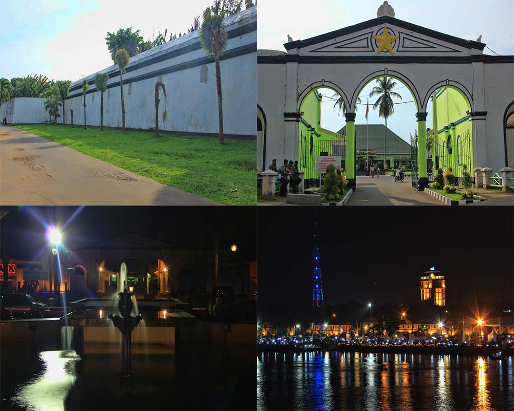 Benteng Kuto Besak Kota Palembang Sumatera Selatan Kamera Budaya Suasana