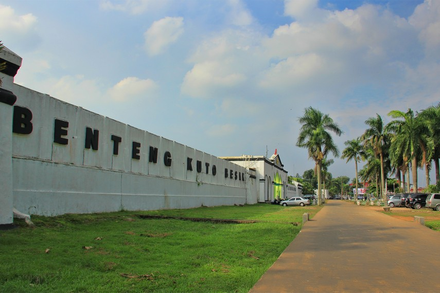Benteng Kuto Besak Sisa Peninggalan Kesultanan Palembang Sumatera Selatan Digunakan