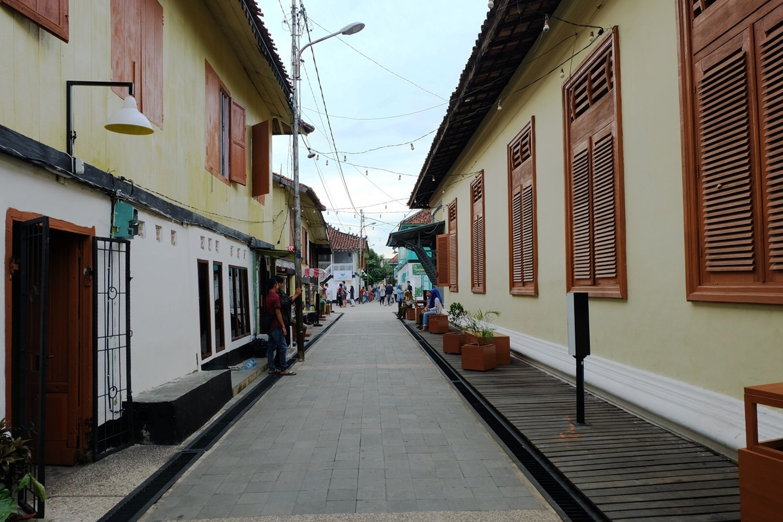 Kampung Wisata Al Munawar Palembang Indonesia Arab Mendadak Terkenal Bangunan