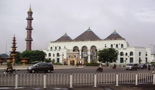 Blog Muhammad Irfan Sejarah Masjid Agung Palembang Mempunyai Atap Berbentuk