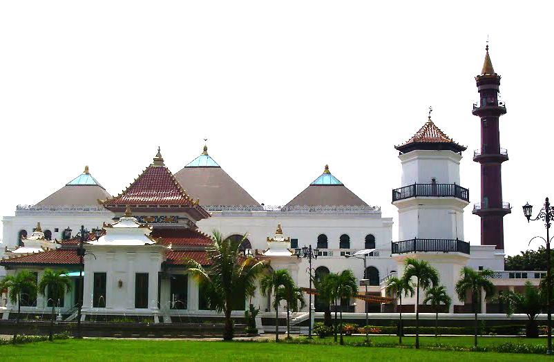 Masjid Agung Palembang Yuk Sultan Mahmud Badaruddin Sebuah Besar Kota