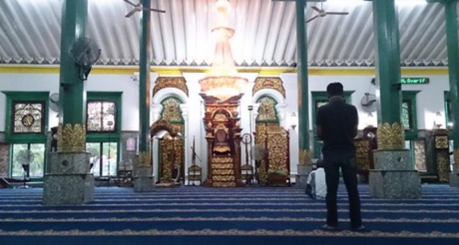 Masjid Agung Sultan Mahmud Badaruddin Dikenal Nama Ruang Mimbar Imam
