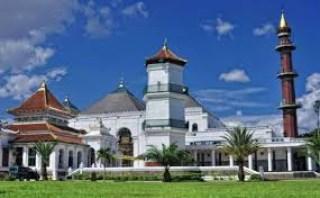 Wisata Religi Masjid Agung Palembang Sumatera Selatan Tanahair Sultan Mahmud