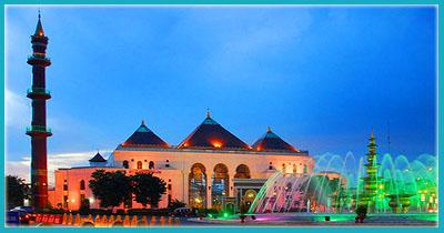Wisata Religi Masjid Agung Sultan Mahmud Badaruddin Palembang Sumatera Selatan