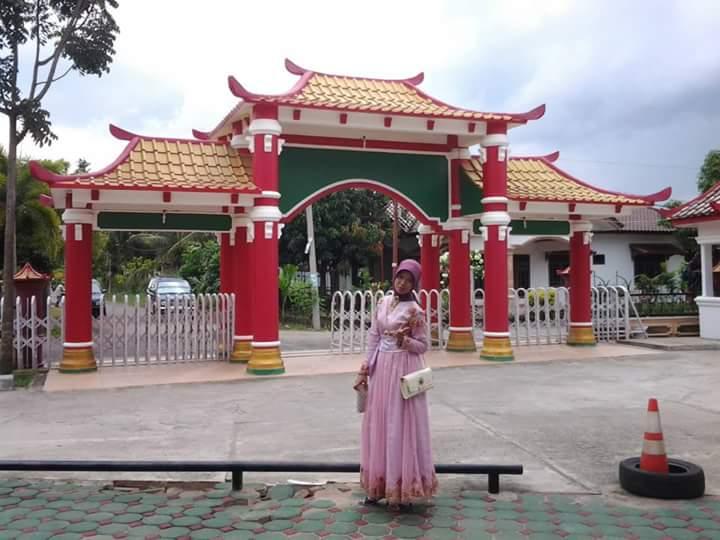 Arsitektur Cina Masjid Cheng Ho Palembang Memukau Setelah Masuk Pintu