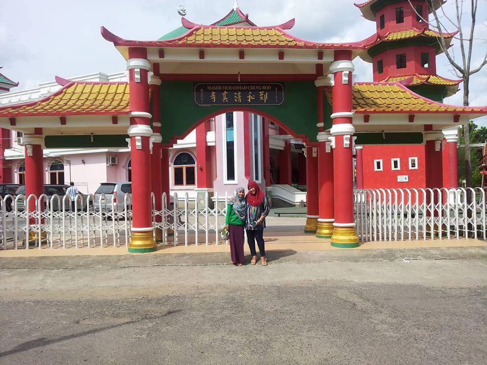 Blog Sarah Jalan Masjid Cheng Ho Palembang Tampak Depan Hoo