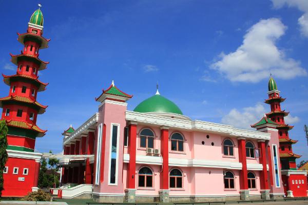 Famous Structure Palembang Al Islam Muhammad Cheng Hoo Mosque Masjid