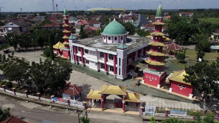 Foto Aerial Masjid Cheng Hoo Palembang 6 1704543 Tribunnews 20170606