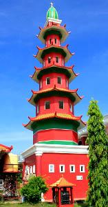 Sejarah Masjid Cheng Ho Palembang Zone History Menara Berbentuk Pagoda