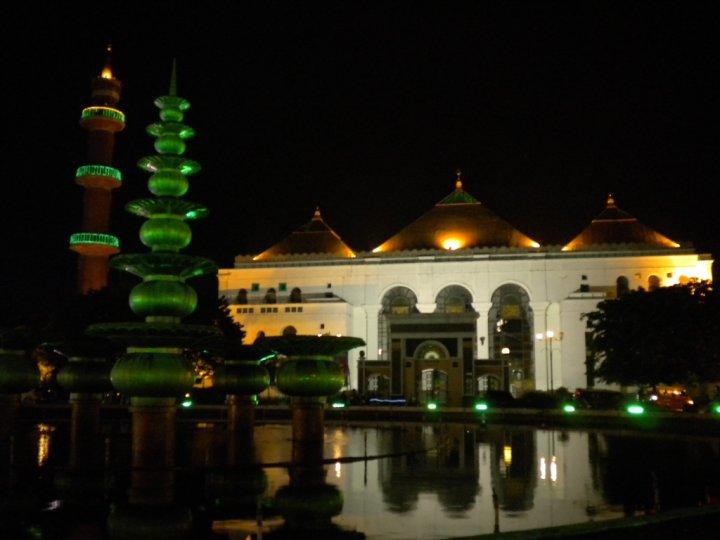 Galeri Palembang Waktu Malam Djangki Monumen Perjuangan Rakyat Monpera Kota