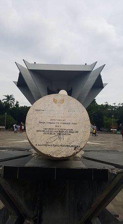 Monpera Monumen Perjuangan Rakyat Palembang Picture Prasasti Tanda Tangan Bapak