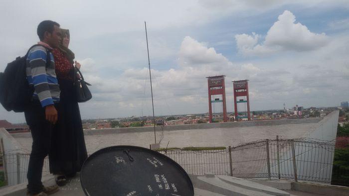 Sucinya Perjuangan Dilukiskan Bentuk Monumen Bersejarah Rakyat Palembang Kota