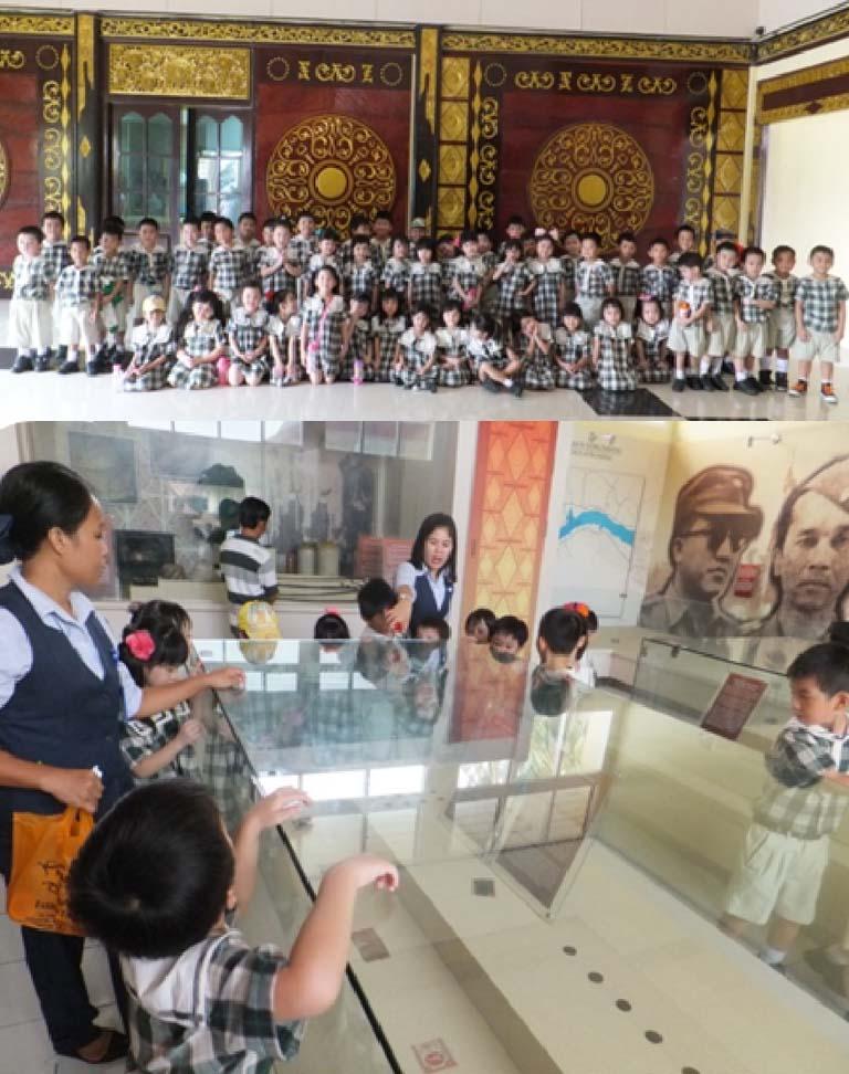 Ipeka Palembang Kindergarten Visits Balaputra Dewa Museum Sekolah Mind Christian