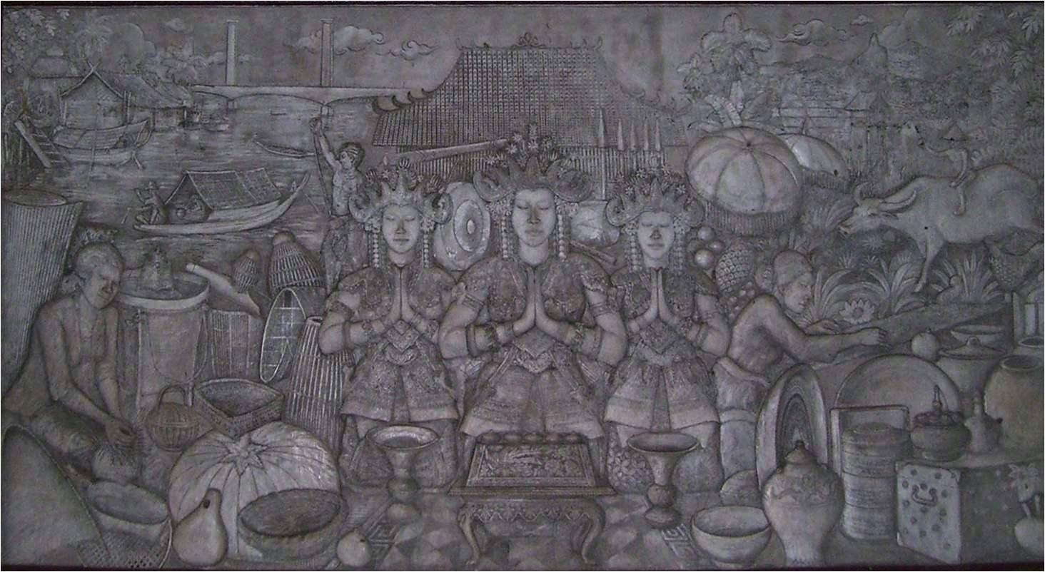 Relief Museum Negeri Sumatera Selatan Balaputra Dewa Kota Palembang